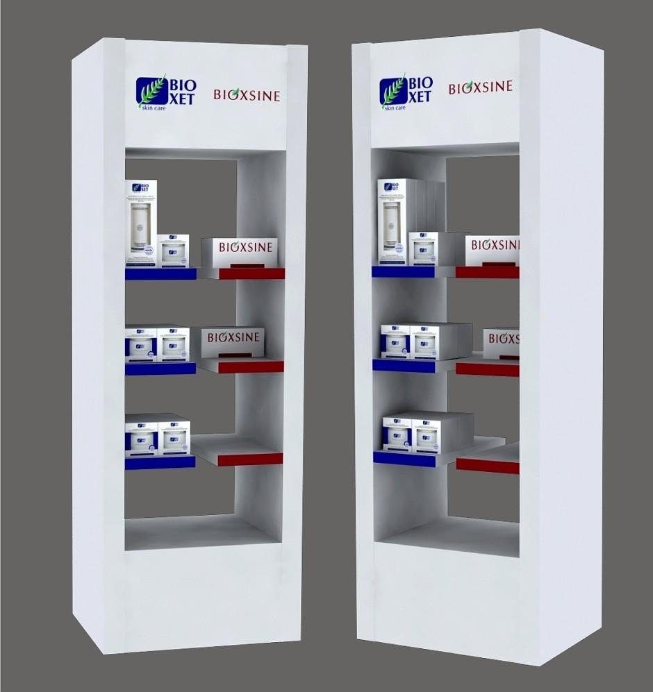 Изготовление рекламного стенда Bioxsine & Bioxet
