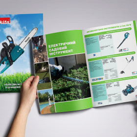 Разработка дизайна и печать каталога Makita