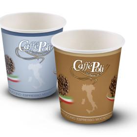 Изготовление бумажных стаканчиков для итальянской марки кофе Caffe Poli