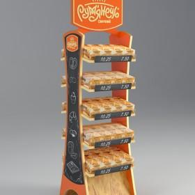 Дизайн и изготовление рекламной стойки «Румянец»