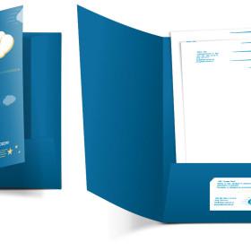 Изготовление цельновысечной папки для компании Golden Sky