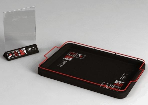 Изготовление меню холдера для компании Totti
