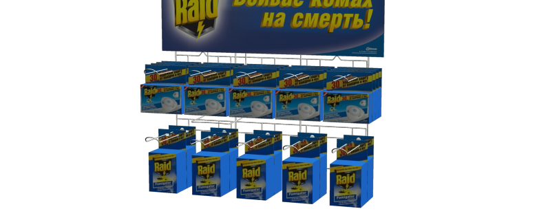 Изготовление диспенсера для компании Raid