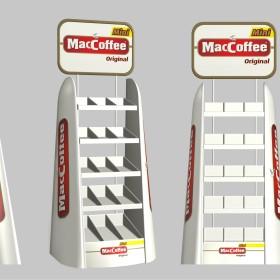 Разработка рекламной стойки для компании McCoffee