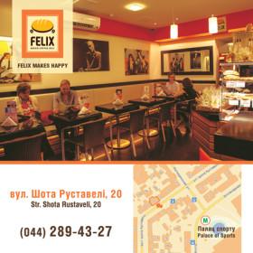 Изготовление дизайна листовок для компании FELIX
