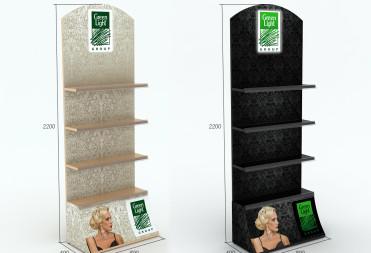 Изготовление рекламного стенда для компании Green Light