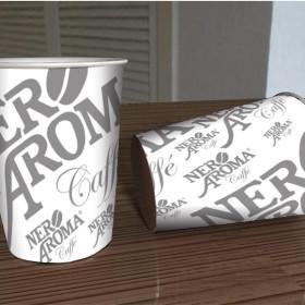 Изготовление бумажных стаканчиков для торговой марки кофе Nero Aroma