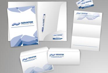 Дизайн фирменного стиля для компании Novator
