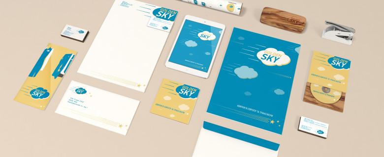 Разработка фирменного стиля для компании Golden Sky